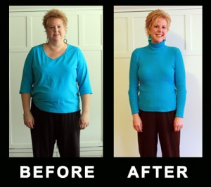 Linda's Before and After photo